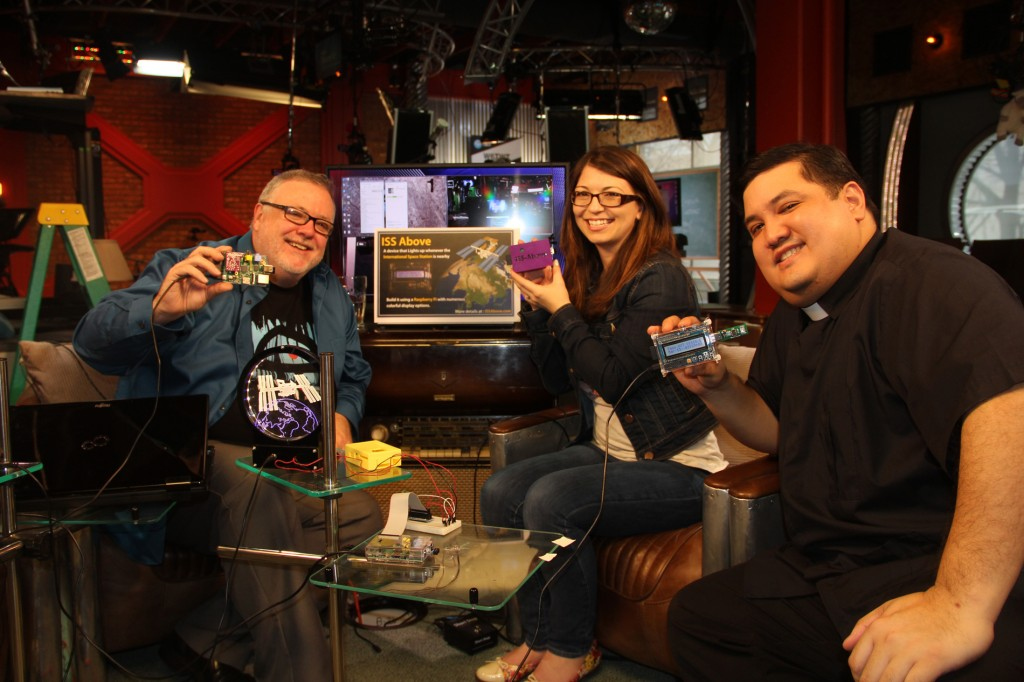 At TWiT.TV studios with the hosts of Coding 101 - Shannon Morse and Fr Patrick Ballecer (Padre).