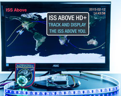 ISS-Above connected to a TV